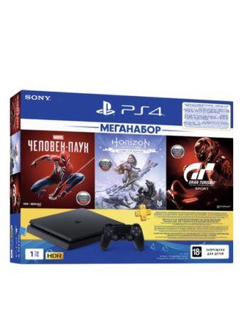 Sony PlayStation 4 Slim 1TB черный