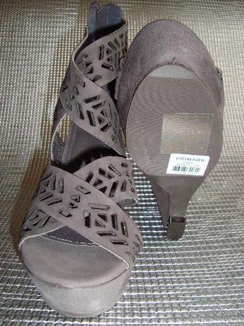 Sandale ATMOSPHERE perforate, talpa ortopedica, culoare gri nr 39, NOI