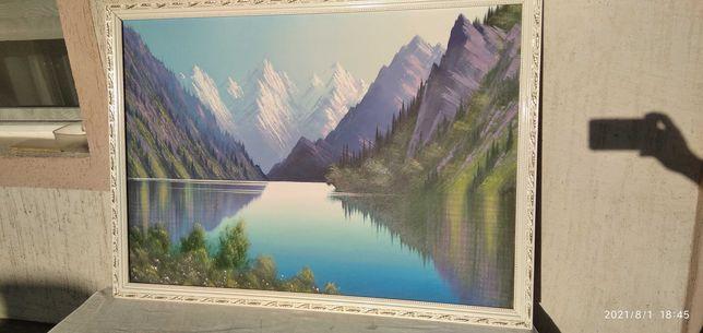 Картина. горы Сары Челек