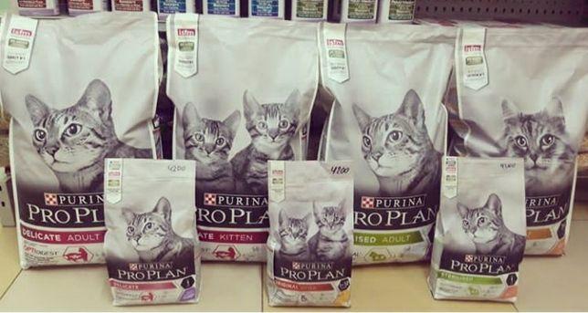 """Сухой корм """"ProPlan"""" для кошек."""
