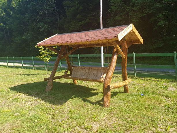 Balansoar rustic, lemn masiv din stejar