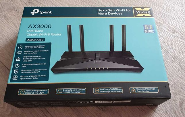 продам новый роутер TP-Link Archer AX50 (wifi6+) 3000Mb/s