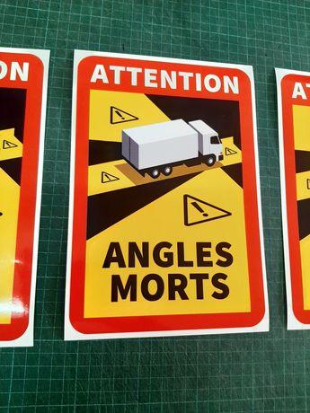 Самозалепващ стикер Франция Слепи зони ANGLES MORTS