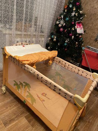 Кровать - манеж + пеленальный столик 3в1