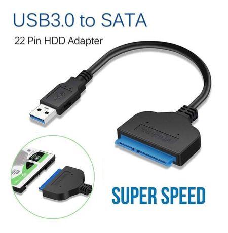 Кабел USB 2.0 или 3.0 към SATA кабел за връзка PC или Таблет Хардиск