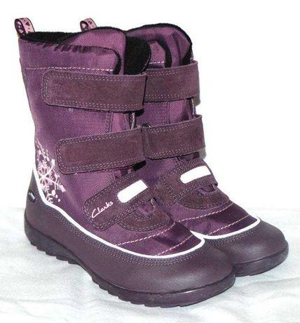 Новые зимние мембранные ботинки CLARKS (оригинал) 25,5 размер