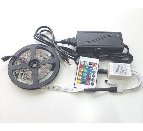 Мощна LED Светодиодна Лента Комплект RGB 12V 14,4W