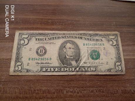 Bancnota de 5 dolari ,an 1995