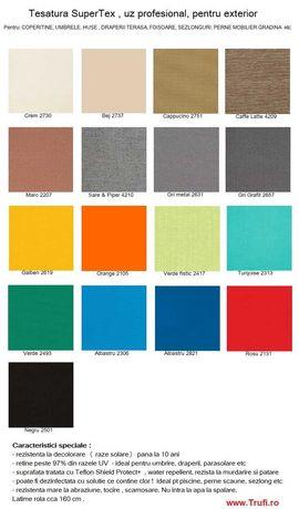 Material draperii terasa, foisor, huse, saltele, copertine, umbrele