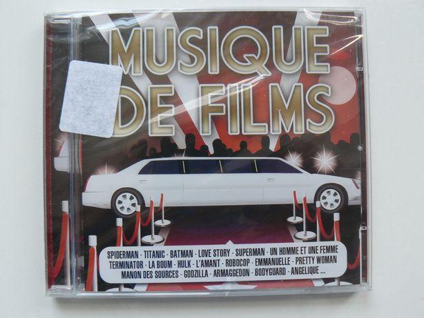 CD Dublu Compilatie MUSIQUE DE FILMS,Nou,Original Franta,Raritate RO