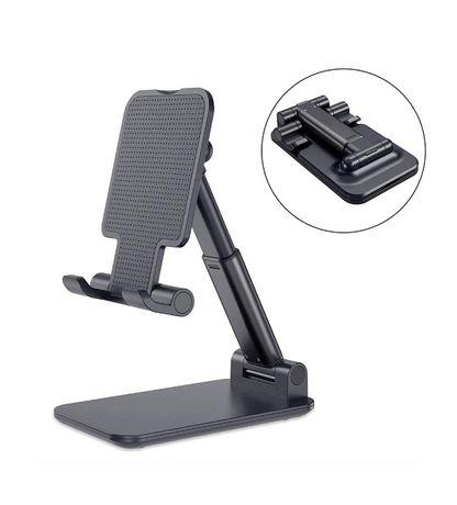 Компактна стойка за телефон за ползване бюро, маса, плот