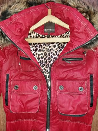 Куртка красная БОМБЕР