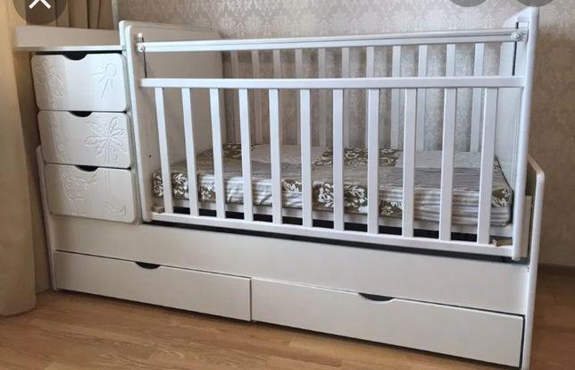 Продам детскую кроватку., трансформер