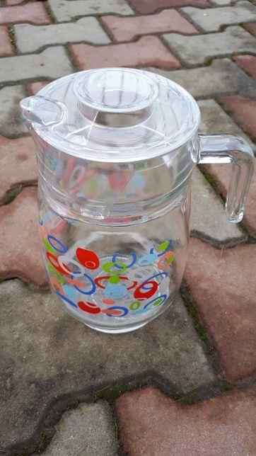 Carafa apa / limonada, din sticla cu capac de plastic