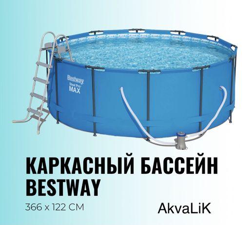 Каркасный бассейн 366/122 в Караганде