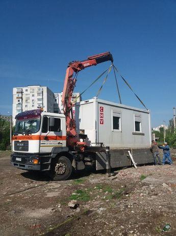 Transport marfa, inchiriere camion cu macara si basculare