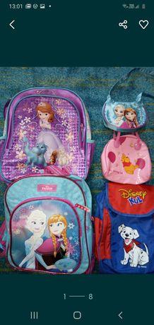 Ghiozdane cu Frozen,,Sofia + tricou Disney inclus în pret,cadou pluş