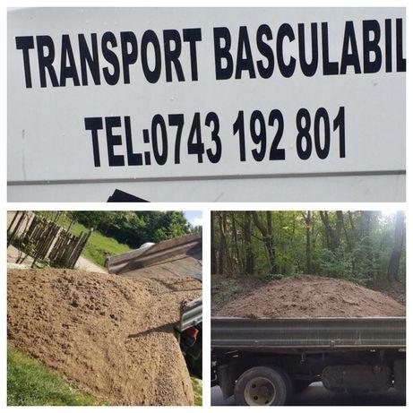 TRANSPORT Marfa Basculabil 7.5 T(4m3)nisip,sort,piatra,drenaj,pamant