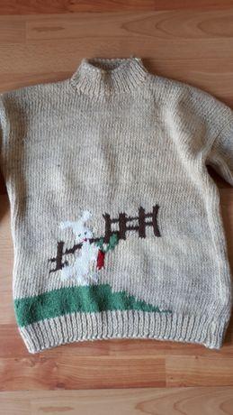 Pulover copii din lână lucrat manual