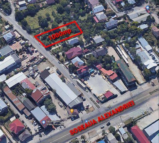 Inchiriez teren 1000mp Str Gardeniei, Soseaua Alexandriei (Bucuresti)