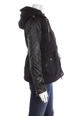 Дамско черно зимно яке-Уникално