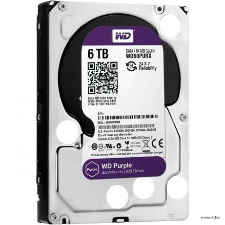 "Жесткий диск HDD 6000 Gb Western Digital, 3.5"", SATA III, Purple"
