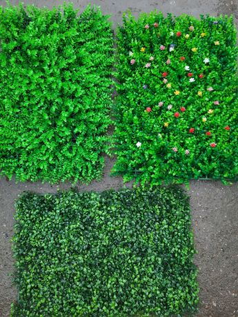 Panou artificial verdeata eucalipt feriga merisor flori