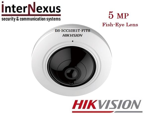 5 MPx Панорамна 180° Камера Hikvision DS-2CC52H1T-FITS, EXIR до 20м.