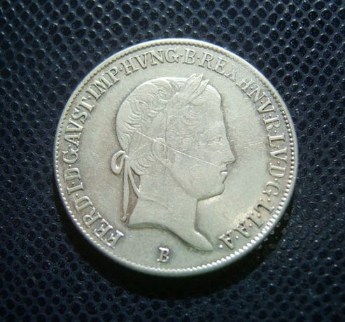 Монета Унгария /Сребро 20 Кройцера / Мадона / 1840 B