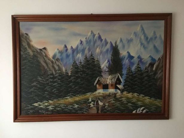 Vand tablou vechi semnat V. Cazacu