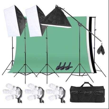 Студийно осветление/Софтбокс/Фото студио/Фотографски студиен комплект