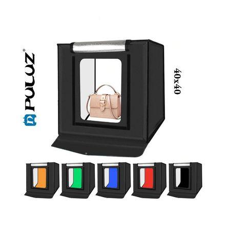 Lightbox PULUZ 40cm cub foto led incorporat pt fotografie de produs
