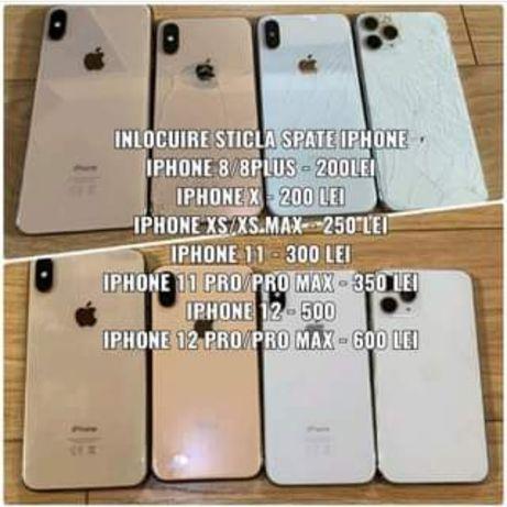 Inlocuire sticla spate/capac iPhone 8-> 12 Pro Max