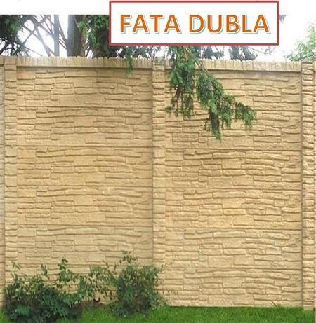 Gard decorativ cu fata dubla prefabricat placi stalp beton