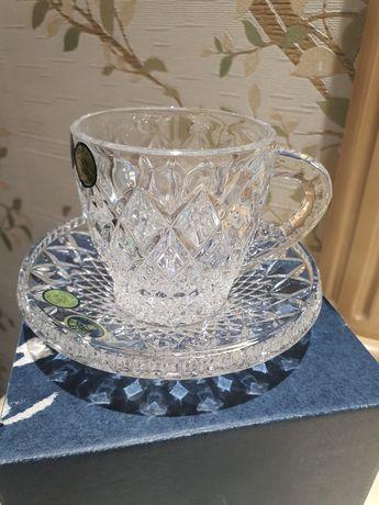 Хрустальный набор для кофе Mokko Diamond CRISTAL BOHEMIA. ЧЕХИЯ