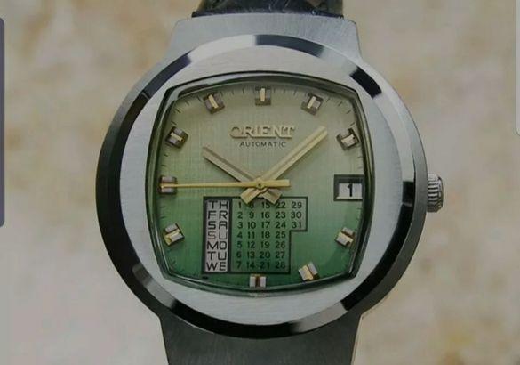 Ориент Календар 1970 година супер рядък часовник.Окончателна цена.