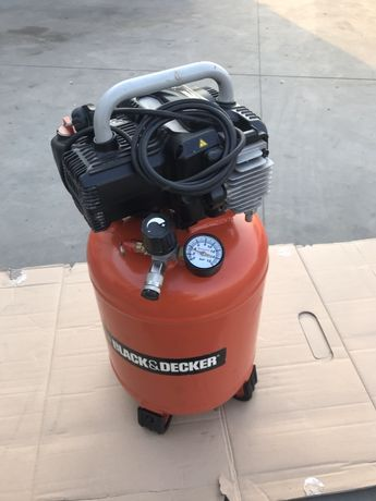Compresor Black Decker - BD 195-24V-NK 1100 W, 24 l, 10 Bari Fără Ulei