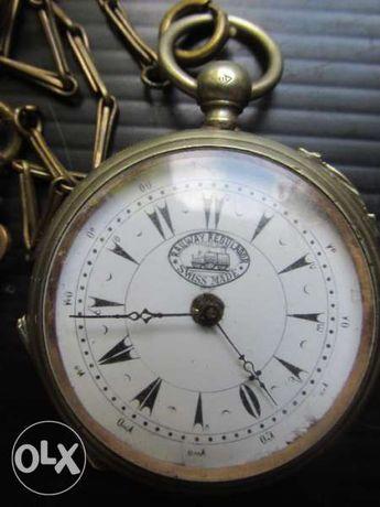 старинен джобен часовник - swiss