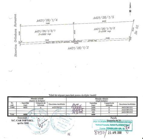 Teren 2000 mp sau loturi 665 - 732 mp - localitatea 2 Mai