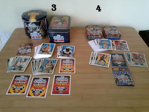 Star Wars Topps - Force Attax - Trading Cards - Cartonase Serie 3 + 4