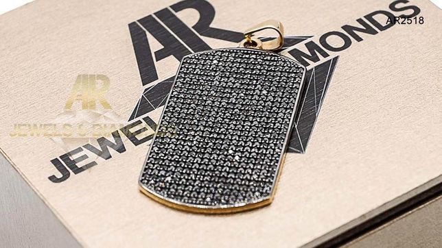 Pandantiv Army Tag Aur 14 K model nou unisex ARJEWELS(AR2518)