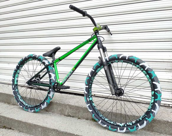 НОВИ цяло колело MAFIA BLACKJACK n CULT VANS GREEN dirt jump 26 цола