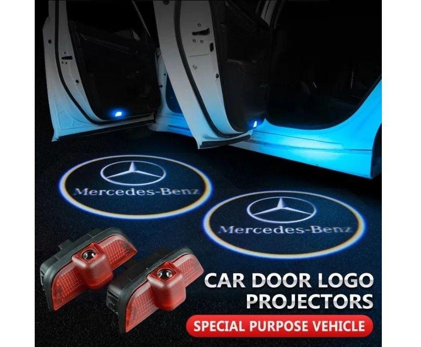 Lumini de usi LED Logo Mercedes C class proiectoare dedicate Pitesti - imagine 1