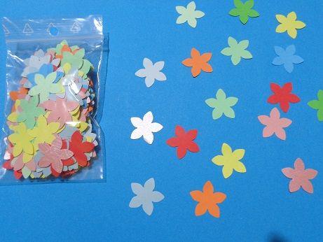 Floare decupata din hartie, model #2, 25mm, 500 buc/pachet