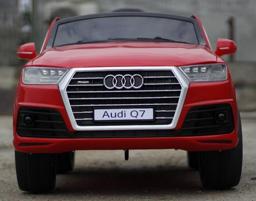 Masinuta electrica pentru copii Audi Q7 2x35W 12V, Scaun Tapitat #Rosu