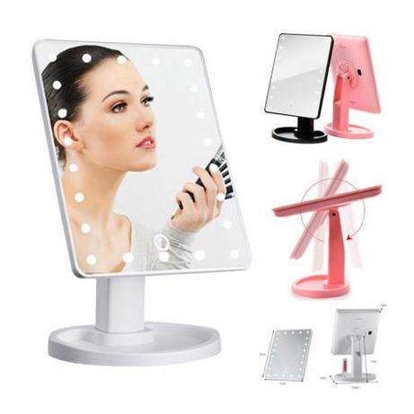 Светещо LED огледало с тъч контол за гримиране