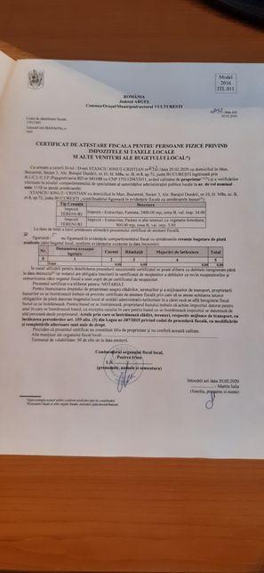 Teren de vânzare Comuna Vulturești, Județul Argeș