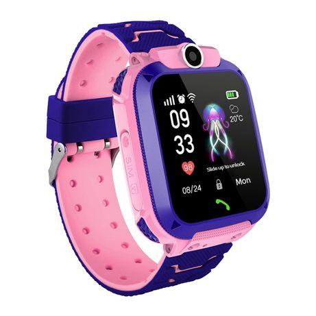 Детские GPS смарт часы Smart Baby Watch S12 с камерой и фонариком