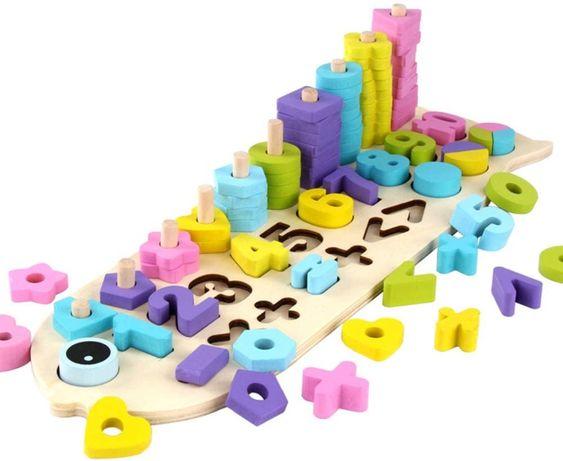 Numaratoare cu forme si numere colorate