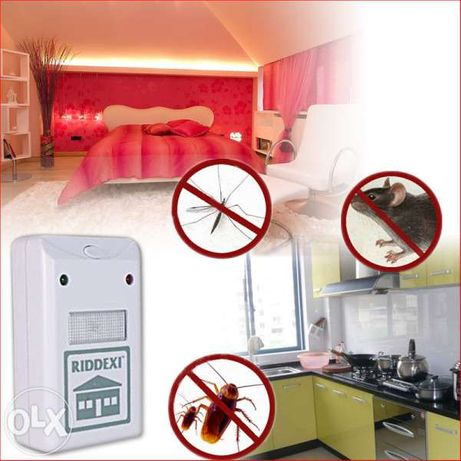 Ултразвуков уред против насекоми, хлебарки, гризачи, мравки Riddex
